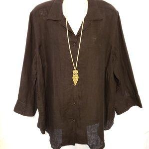 Lauren Ralph Lauren Linen blouse size 1X